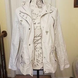 Large forever 21 utility cream jacket
